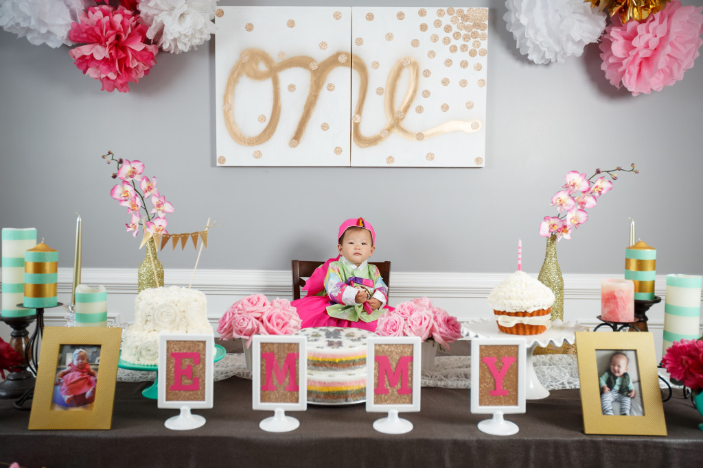 Emmy 39 s dohl korean 1st birthday party love your abode for 1st bday decoration ideas