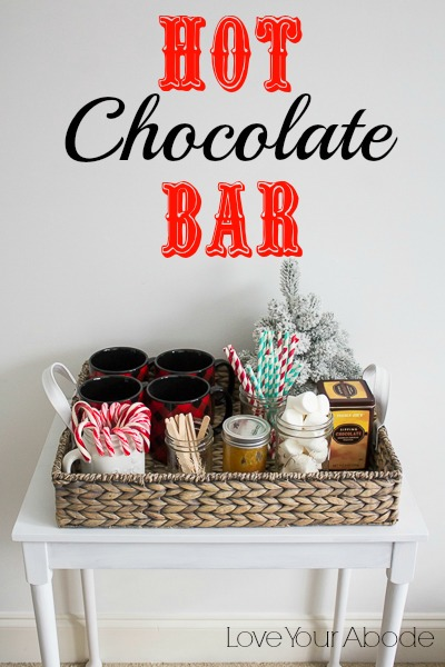 Hot Chocolate Bar At Orgjunkie Love Your Abode